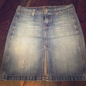 7 For All Mankind jean pencil skirt EUC
